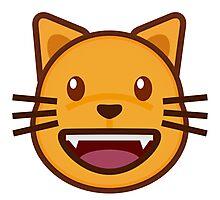 Cat emoji- Happy cute cat emoji Photographic Print