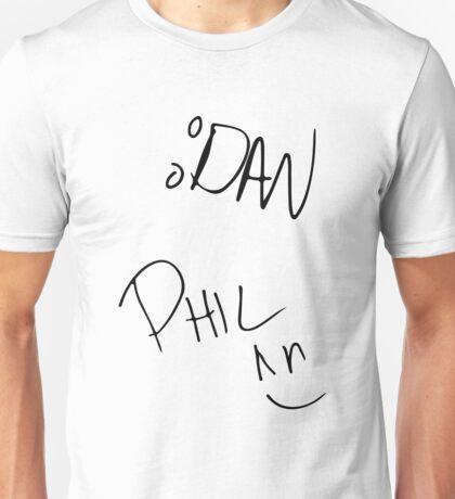 Dan and Phil Autographs Unisex T-Shirt