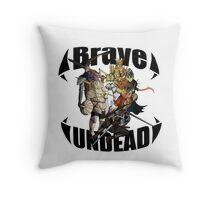 Brave Undead Throw Pillow