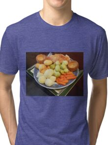 Roast Chicken with Vegetables Tri-blend T-Shirt