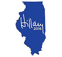Hillary 2016 State Pride Signature - Illinois Photographic Print