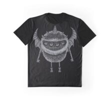 Four-Eyed, Five-Horned, Two-Winged Monster Graphic T-Shirt
