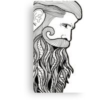 sexy beard Canvas Print