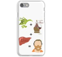 Quotes and quips - fava beans, chianti and liver iPhone Case/Skin