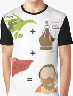 Quotes and quips - fava beans, chianti and liver Graphic T-Shirt