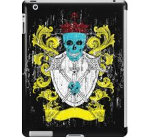 Blue Skull Coat of Arms iPad Case/Skin