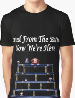 Started From The Bottom Now Were Here Mario/ Donkey Kong Graphic T-Shirt