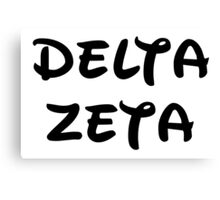 Delta Zeta - Disney Canvas Print