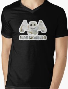 Marshmellow design with stroke Mens V-Neck T-Shirt