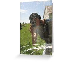 Selfie with Barbed Wire Greeting Card