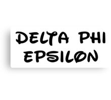 Delta Phi Epsilon - Disney Canvas Print