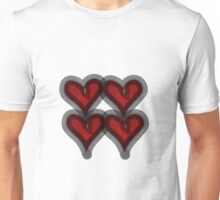 4 Hearts Unisex T-Shirt