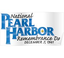 Pearl Harbor Remembrance Day Logo Poster