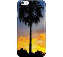 Palm Tree Fiery Sunset iPhone Case/Skin