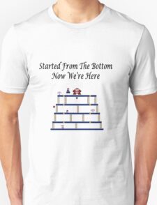 Started From The Bottom Now Were Here Mario/ Donkey Kong T-Shirt