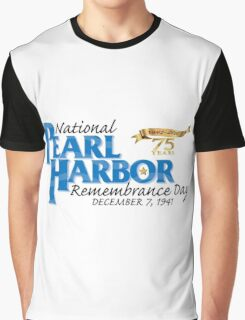 Pearl Harbor Remembrance Day 75th Anniversary Logo Graphic T-Shirt