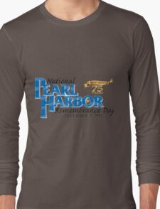 Pearl Harbor Remembrance Day 75th Anniversary Logo Long Sleeve T-Shirt