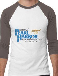 Pearl Harbor Remembrance Day 75th Anniversary Logo Men's Baseball ¾ T-Shirt