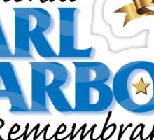 Pearl Harbor Remembrance Day 75th Anniversary Logo Sticker