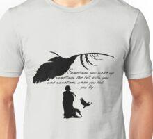 Sandman - When you fall, you fly (version B) Unisex T-Shirt