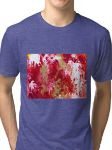 Red Abstract  Tri-blend T-Shirt