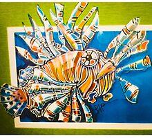 Lionfish comic Photographic Print