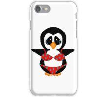 Beach Penguin in Floral Swimsuit iPhone Case/Skin