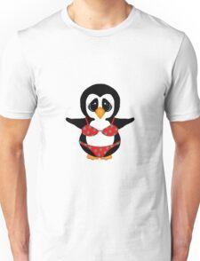 Beach Penguin in Floral Swimsuit Unisex T-Shirt