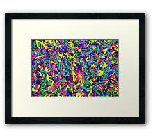 Colorful candy sprinkles Framed Print