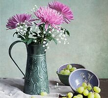 Pinks 'n Greens by Colleen Farrell