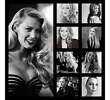 Blake Lively black and white Photographic Print