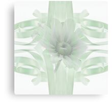 Green Gloriosa Daisy In Ribbon Canvas Print