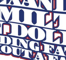 Alexander Hamilton - Red, White & Blue  Sticker