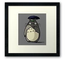 Totoro Lego Framed Print
