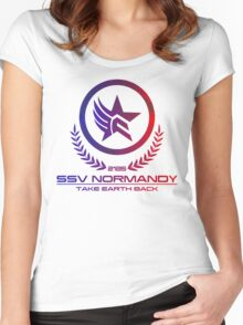 Mass Effect - Take Earth Back Women's Fitted Scoop T-Shirt