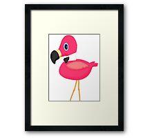 Pink Flamingo Bow Tie Framed Print
