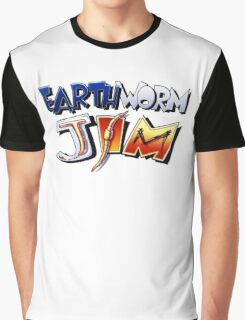 Earthworm Jim Logo Graphic T-Shirt