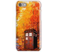 Tardis Autumn Painting iPhone Case/Skin