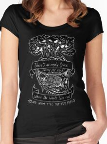 Lotus Flower - Inverted  Women's Fitted Scoop T-Shirt