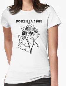 Podzilla 1985 Retro  Womens Fitted T-Shirt