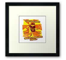 How Much Wood Would a Woodchuck Chuck Framed Print