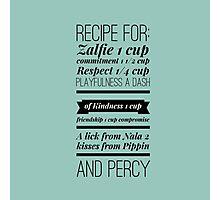 Zalfie Recipe Photographic Print