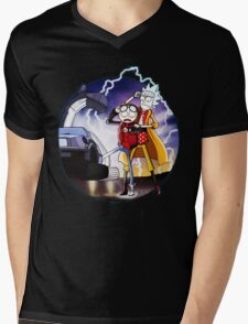 Doctor Rick and Morty Mens V-Neck T-Shirt