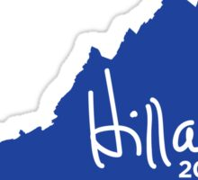 Hillary 2016 State Pride Signature - Virginia Sticker