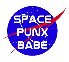 Space Punx Babe Photographic Print