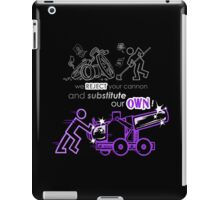 We Reject Your Cannon (Purple Version) iPad Case/Skin