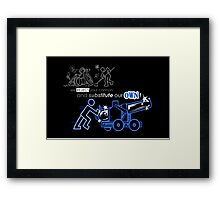 We Reject Your Cannon (Blue Version) Framed Print