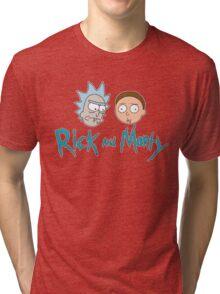 Rick Morty Face Tri-blend T-Shirt