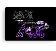 We Reject Your Cannon (Purple Version) Canvas Print