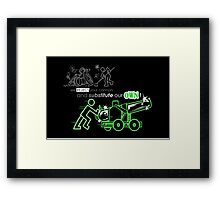 We Reject Your Cannon (Green Version) Framed Print